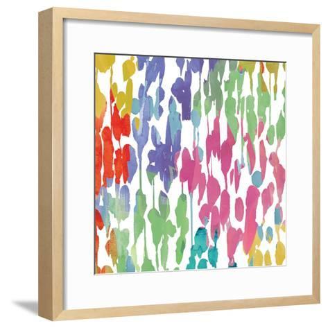 Splashes of Color II-Hugo Wild-Framed Art Print