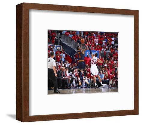 Cleveland Cavaliers v Atlanta Hawks- Game One-Nathaniel S Butler-Framed Art Print