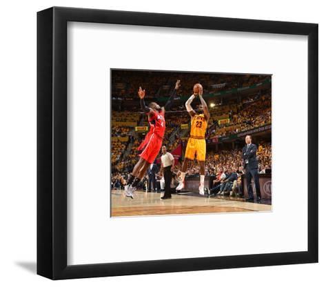 Cleveland Cavaliers V Atlanta Hawks - Game Four-Jesse D Garrabrant-Framed Art Print