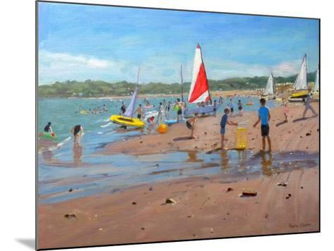 Cricket and Red and White Sail, Abersoch, 2011-Andrew Macara-Mounted Giclee Print