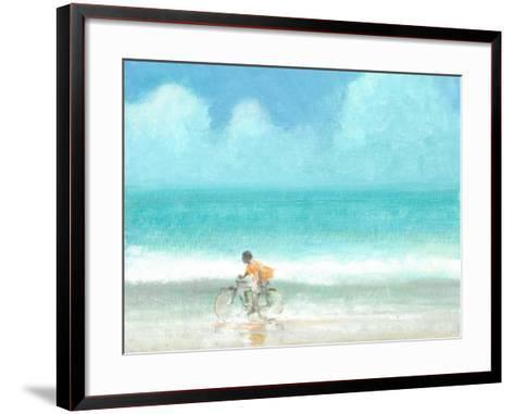 Boy on a Bike, 2015-Lincoln Seligman-Framed Art Print