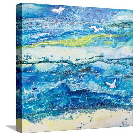 Dancing with the Waves-Margaret Coxall-Stretched Canvas Print