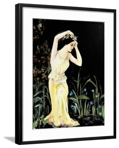 Lady by Pool-Susan Adams-Framed Art Print