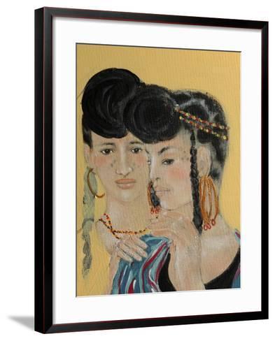 Close Up of 2 Wodaabe Women-Susan Adams-Framed Art Print