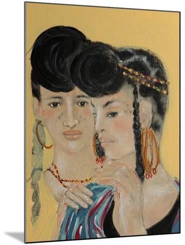 Close Up of 2 Wodaabe Women-Susan Adams-Mounted Giclee Print