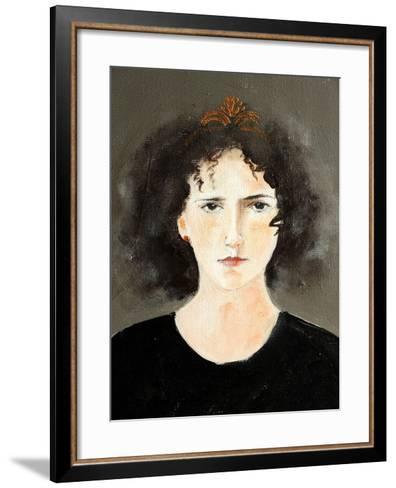 Close Up of Ballet Dancer with Curls-Susan Adams-Framed Art Print
