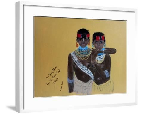 Two Young Girls from the Hamer People Ethiopia, 2015-Susan Adams-Framed Art Print