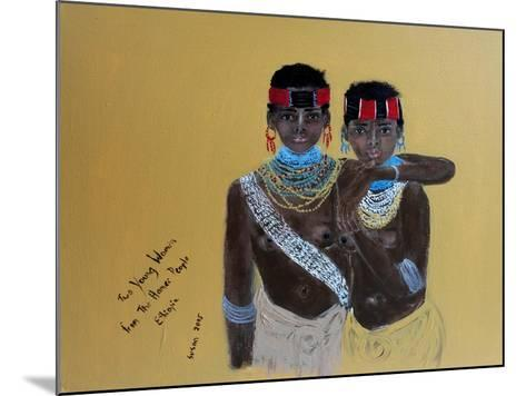 Two Young Girls from the Hamer People Ethiopia, 2015-Susan Adams-Mounted Giclee Print