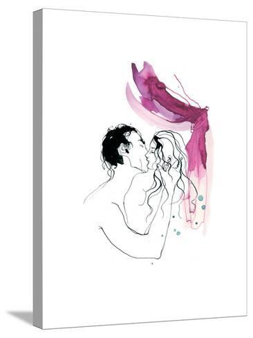 Kissing, Man and Woman, 2013-Toril Bækmark-Stretched Canvas Print