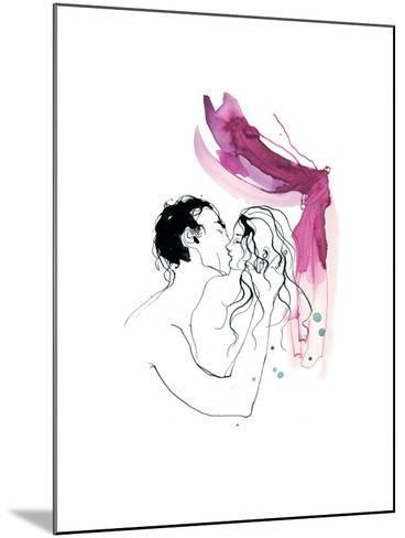 Kissing, Man and Woman, 2013-Toril Bækmark-Mounted Giclee Print