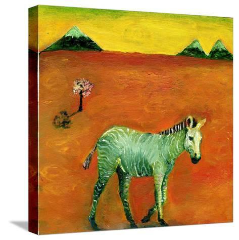 Green Zebra and Cherry Tree, 2005-Gigi Sudbury-Stretched Canvas Print