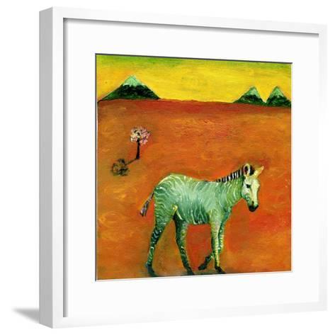 Green Zebra and Cherry Tree, 2005-Gigi Sudbury-Framed Art Print
