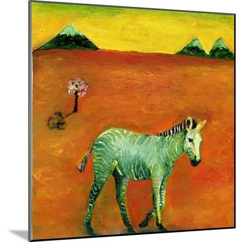 Green Zebra and Cherry Tree, 2005-Gigi Sudbury-Mounted Giclee Print