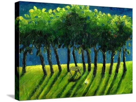 Zebra Trees, 2005-Gigi Sudbury-Stretched Canvas Print
