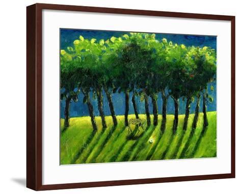 Zebra Trees, 2005-Gigi Sudbury-Framed Art Print