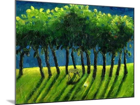 Zebra Trees, 2005-Gigi Sudbury-Mounted Giclee Print