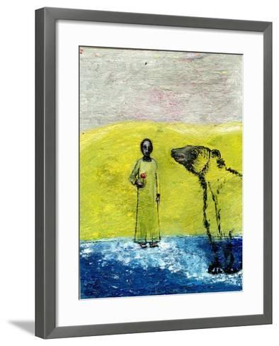 Sweet Rose and Brown Bear, 2005-Gigi Sudbury-Framed Art Print
