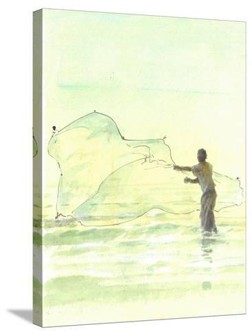 Lone Fisherman 2, 2015-Lincoln Seligman-Stretched Canvas Print