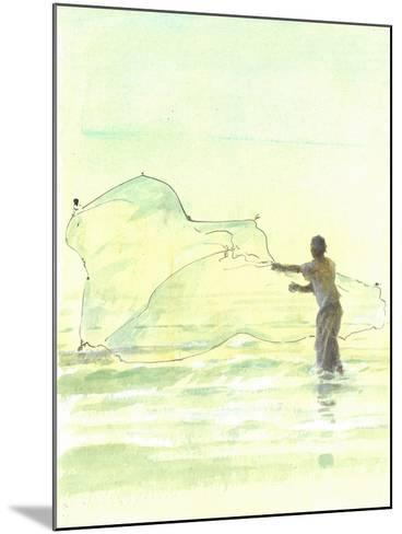 Lone Fisherman 2, 2015-Lincoln Seligman-Mounted Giclee Print