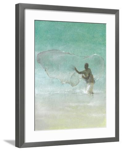 Lone Fisherman 5, 2015-Lincoln Seligman-Framed Art Print