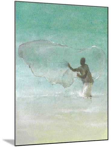 Lone Fisherman 5, 2015-Lincoln Seligman-Mounted Giclee Print