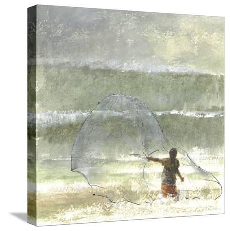 Lone Fisherman 4, 2015-Lincoln Seligman-Stretched Canvas Print