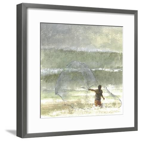 Lone Fisherman 4, 2015-Lincoln Seligman-Framed Art Print