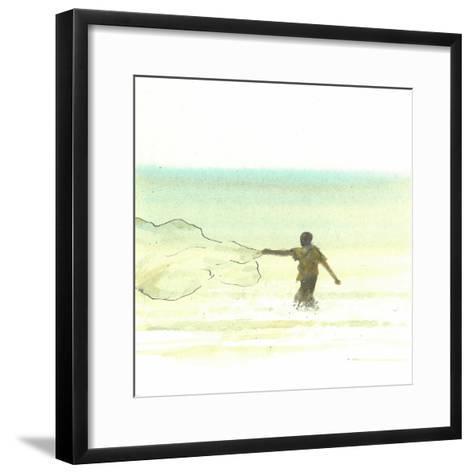 Lone Fisherman 6, 2015-Lincoln Seligman-Framed Art Print
