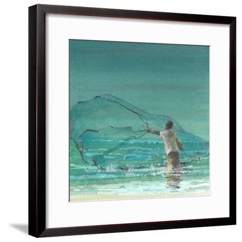 Lone Fisherman 3, 2015-Lincoln Seligman-Framed Art Print