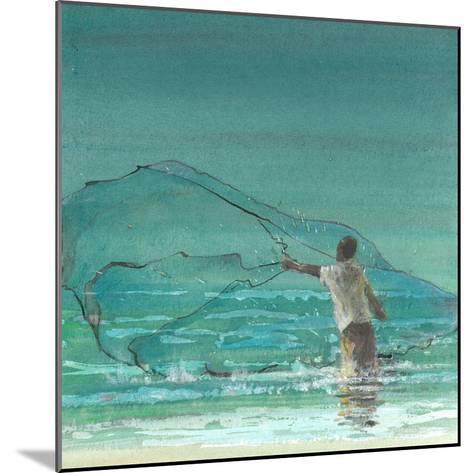Lone Fisherman 3, 2015-Lincoln Seligman-Mounted Giclee Print