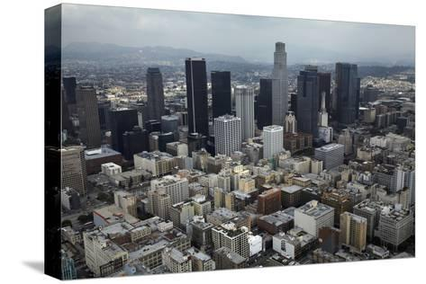 Aerial View. of Downtown Los Angeles-David Wall-Stretched Canvas Print