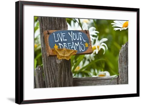USA, Pennsylvania. Moth on Garden Sign-Jaynes Gallery-Framed Art Print
