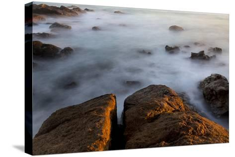 Africa, South Africa. Sunset on Ocean and Shore Rocks-Jaynes Gallery-Stretched Canvas Print