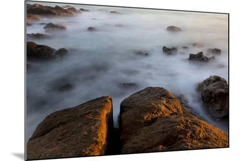 Africa, South Africa. Sunset on Ocean and Shore Rocks-Jaynes Gallery-Mounted Photographic Print