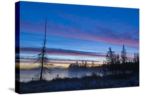 USA, New York, Adirondack Mountains. Raquette Lake at Sunrise-Jaynes Gallery-Stretched Canvas Print