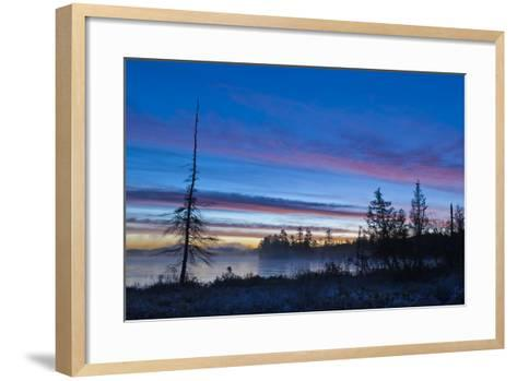 USA, New York, Adirondack Mountains. Raquette Lake at Sunrise-Jaynes Gallery-Framed Art Print