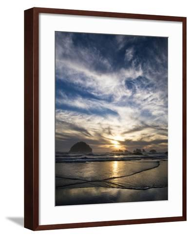USA, Oregon, Bandon Beach. Face Rock and Sea Stacks at Twilight-Jaynes Gallery-Framed Art Print