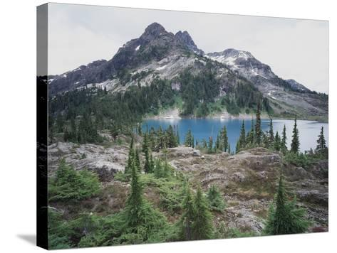 Vancouver Island, Strathcona Provincial Park, Glacier Feed Cream Lake-Christopher Talbot Frank-Stretched Canvas Print