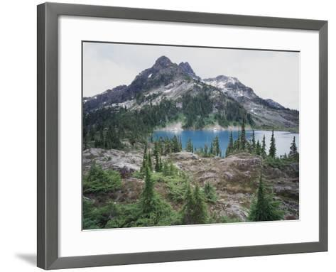 Vancouver Island, Strathcona Provincial Park, Glacier Feed Cream Lake-Christopher Talbot Frank-Framed Art Print