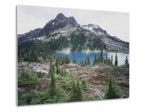 Vancouver Island, Strathcona Provincial Park, Glacier Feed Cream Lake-Christopher Talbot Frank-Metal Print