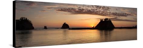 La Push, Washington. Quillayute River and Little James Island, Sunset-Michael Qualls-Stretched Canvas Print