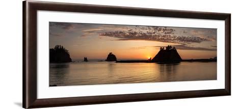 La Push, Washington. Quillayute River and Little James Island, Sunset-Michael Qualls-Framed Art Print
