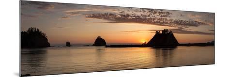 La Push, Washington. Quillayute River and Little James Island, Sunset-Michael Qualls-Mounted Photographic Print