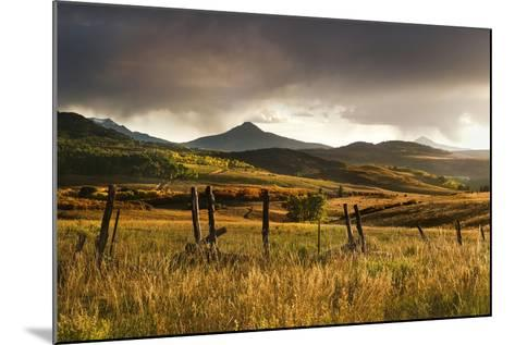 USA, Colorado, San Juan Mountains. Landscape and Fence at Sunset-Jaynes Gallery-Mounted Photographic Print