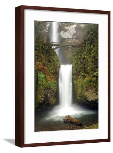 Multnomah Falls and Creek, Multnomah Falls Sp, Columbia Gorge, Oregon-Michel Hersen-Framed Art Print