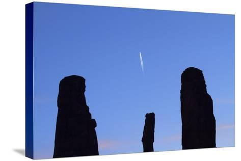Navajo Nation, Monument Valley, the Three Sisters Spires-David Wall-Stretched Canvas Print