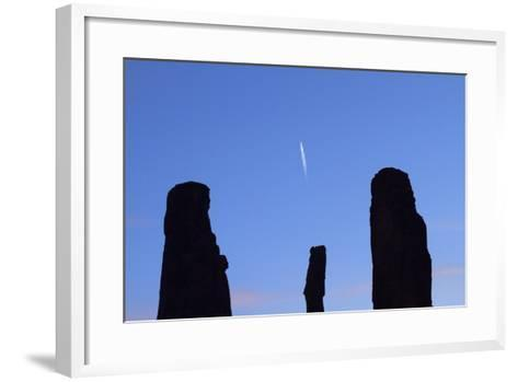 Navajo Nation, Monument Valley, the Three Sisters Spires-David Wall-Framed Art Print