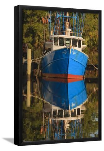 USA, Florida, Apalachicola, Shrimp Boat Docked at Apalachicola-Joanne Wells-Framed Art Print