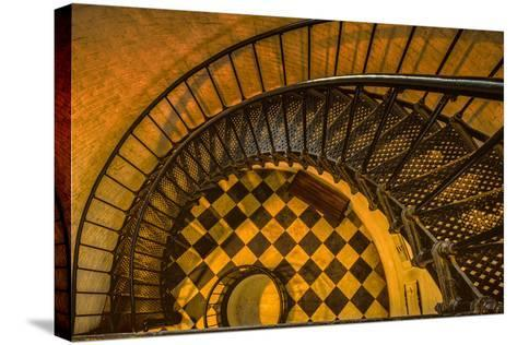Spiral Staircase of St. Augustine Lighthouse, St. Augustine, Florida-Rona Schwarz-Stretched Canvas Print