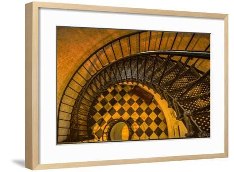Spiral Staircase of St. Augustine Lighthouse, St. Augustine, Florida-Rona Schwarz-Framed Art Print